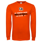 Orange Long Sleeve T Shirt-Volleyball Can You Dig It