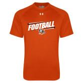 Under Armour Orange Tech Tee-Football Slanted w/Falcon Shield