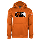 Under Armour Orange Performance Sweats Team Hoodie-UTPB Falcons