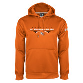 Under Armour Orange Performance Sweats Team Hoodie-UT Permian Basin Football Flat w/ Football