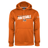 Under Armour Orange Performance Sweats Team Hoodie-Football Slanted w/Falcon Shield