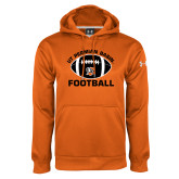 Under Armour Orange Performance Sweats Team Hoodie-UT Permian Basin Arched w/ Full Ball