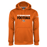 Under Armour Orange Performance Sweats Team Hoodie-UT Permian Basin Football Stacked