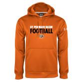 Under Armour Orange Performance Sweats Team Hoodie-UT Permian Basin Football Stacked