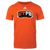 Adidas Orange Logo T Shirt-UTPB Falcons