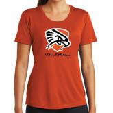 Ladies Syntrel Performance Orange Tee-Volleyball