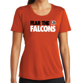 Ladies Syntrel Performance Orange Tee-Fear The Falcons