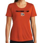 Ladies Syntrel Performance Orange Tee-Falcons Up