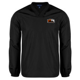 V Neck Black Raglan Windshirt-UTPB Falcons