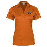 Ladies Orange Performance Fine Jacquard Polo-UTPB Falcons