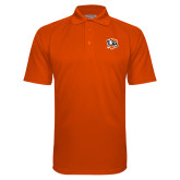 Orange Textured Saddle Shoulder Polo-Falcon Shield