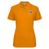 Ladies Easycare Orange Pique Polo-Falcon Shield