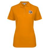 Ladies Easycare Orange Pique Polo-Falcon Shield