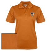 Ladies Orange Dry Mesh Polo-Official Logo