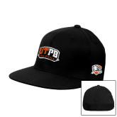 Black OttoFlex Flat Bill Pro Style Hat-UTPB Falcons