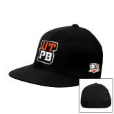 Black OttoFlex Flat Bill Pro Style Hat-UTPB Stacked