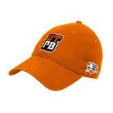 Orange Twill Unstructured Low Profile Hat-UTPB Stacked