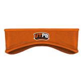 Orange Stretch Fleece Headband-UTPB Falcons
