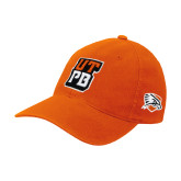 Orange Flexfit Mid Profile Hat-UTPB Stacked