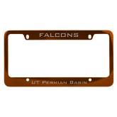 Metal Orange License Plate Frame-Falcons
