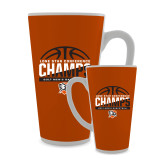 Full Color Latte Mug 17oz-2017 Lone Star Conference Champs - Mens Basketball