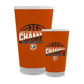 Full Color Glass 17oz-2017 Lone Star Conference Champs - Mens Basketball