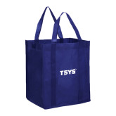 Non Woven Navy Grocery Tote-TSYS