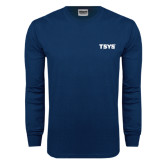 Navy Long Sleeve T Shirt-TSYS