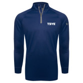 Under Armour Navy Tech 1/4 Zip Performance Shirt-TSYS