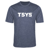 Performance Navy Heather Contender Tee-TSYS