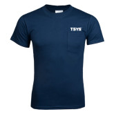 Navy T Shirt w/Pocket-TSYS