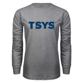 Grey Long Sleeve T Shirt-TSYS