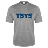 Performance Grey Heather Contender Tee-TSYS