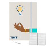 5x7 White Hard Cover Journal-Innovation Illustration
