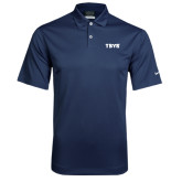 Nike Dri Fit Navy Pebble Texture Sport Shirt-TSYS