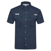 Columbia Tamiami Performance Navy Short Sleeve Shirt-TSYS