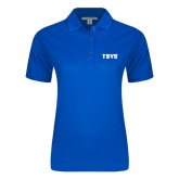 Ladies Easycare Royal Pique Polo-TSYS