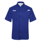 Columbia Tamiami Performance Royal Short Sleeve Shirt-TSYS