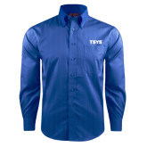 Red House French Blue Dobby Long Sleeve Shirt-TSYS