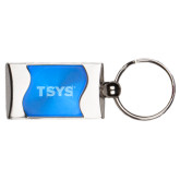 Silverline Blue Wave Key Holder-TSYS Engraved