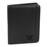 Millennium Black Leather Writing Pad-Troy Trojans Shield Engraved