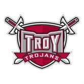 Large Decal-Troy Trojans Shield, 12 in W