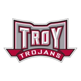 Large Decal-Troy Trojans Wide Shield, 12 in W