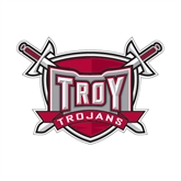 Small Decal-Troy Trojans Shield, 6 in W