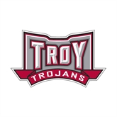 Small Decal-Troy Trojans Wide Shield, 6 in W