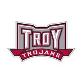 Small Decal-Troy Trojans Wide Shield, 6 in W
