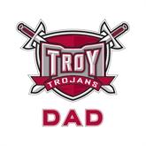 Dad Decal-Troy Trojans Shield, 6 in W