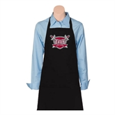 Full Length Black Apron-Troy Trojans Shield