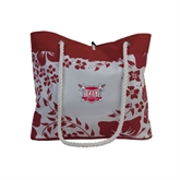 Hibiscus Cardinal Tote-Troy Trojans Shield