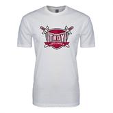 SoftStyle White T Shirt-Troy Trojans Shield